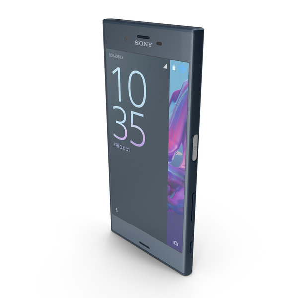 Sony Xperia XZ Forest Blue PNG & PSD Images