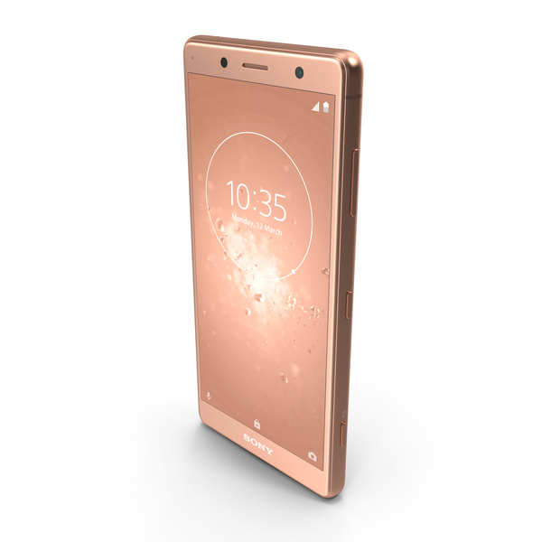 Sony Xperia XZ2 Compact Coral Pink PNG & PSD Images