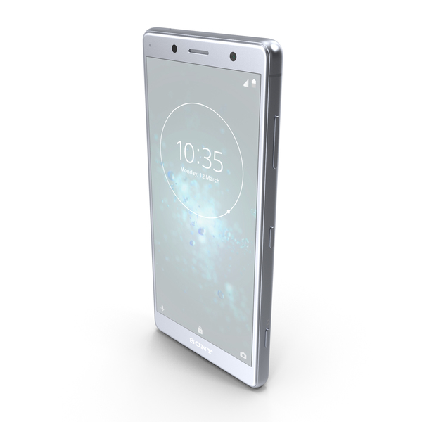 Sony Xperia XZ2 Compact White Silver PNG & PSD Images
