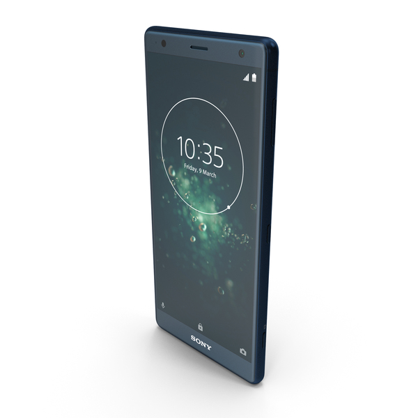 Smartphone: Sony Xperia XZ2 Deep Green PNG & PSD Images