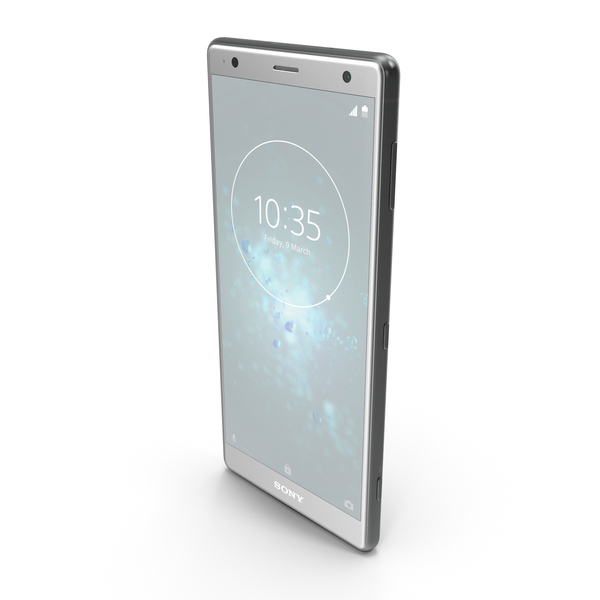 Smartphone: Sony Xperia XZ2 Liquid Silver PNG & PSD Images
