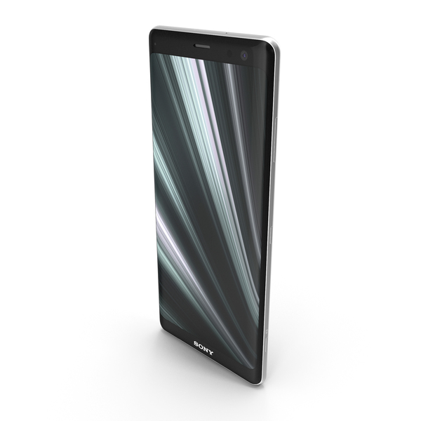 Smartphone: Sony Xperia XZ3 Silver PNG & PSD Images