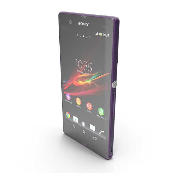 Cellphone: Sony Xperia Z Purple PNG & PSD Images