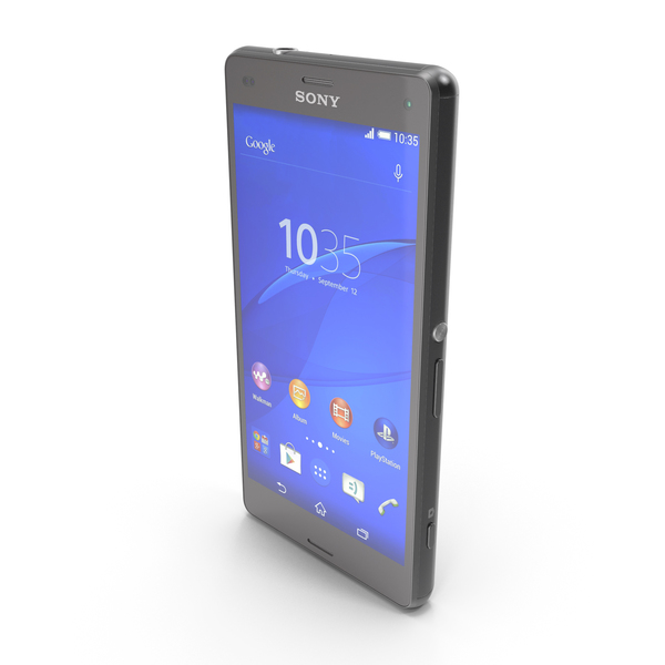 Sony Xperia Z3 Compact Black PNG & PSD Images