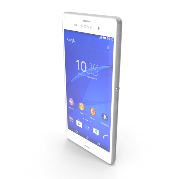 Smartphone: Sony Xperia Z3 & Z3 Dual White PNG & PSD Images