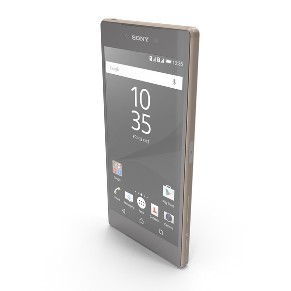 Smartphone: Sony Xperia Z5 Premium Gold PNG & PSD Images