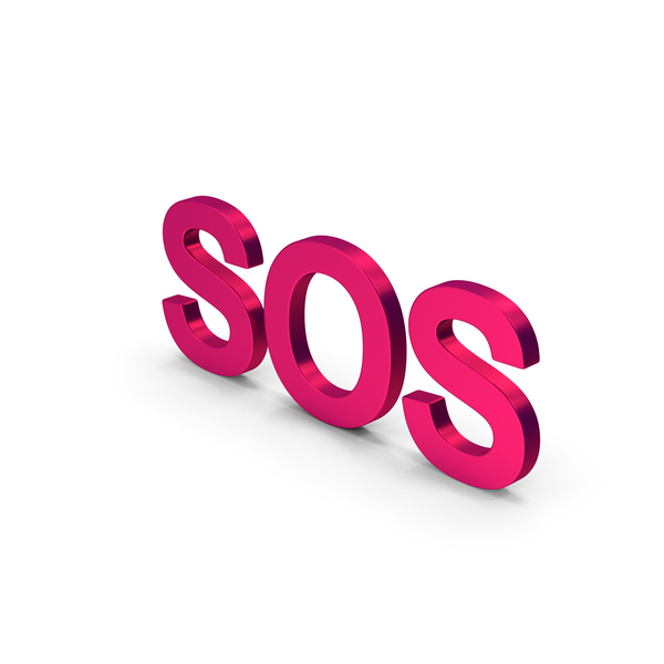 Computer Icon: SOS Metallic PNG & PSD Images