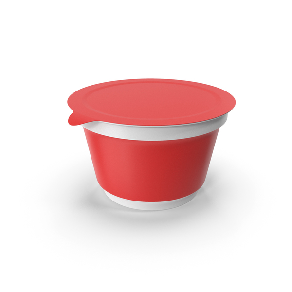 Takeaway Food Container: Sour Cream Cup Red PNG & PSD Images