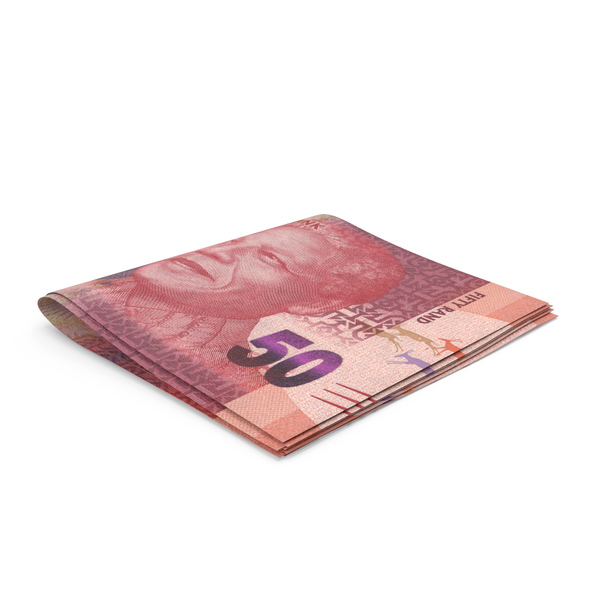 Banknote: South African Rand Banknotes Small Folded Stack PNG & PSD Images