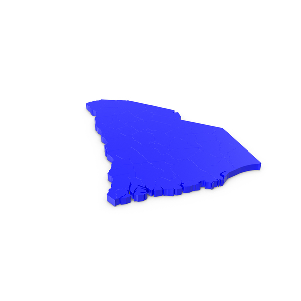 South Carolina Counties Map PNG & PSD Images