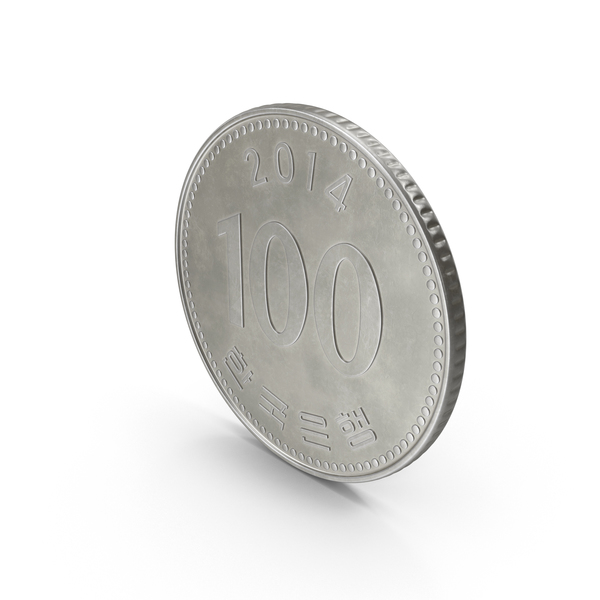 South Korea 100 Won Coin PNG & PSD Images