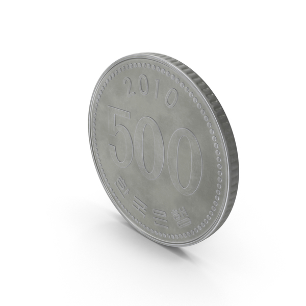 South Korea 500 Won Coin PNG & PSD Images
