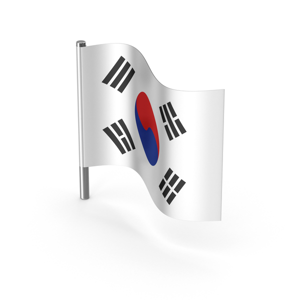 South Korea Cartoon Flag PNG & PSD Images