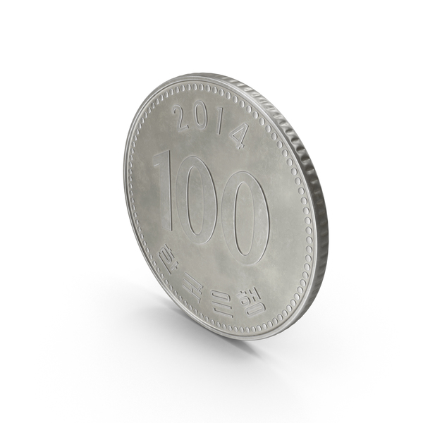 South Korean 100 Won Coin PNG & PSD Images