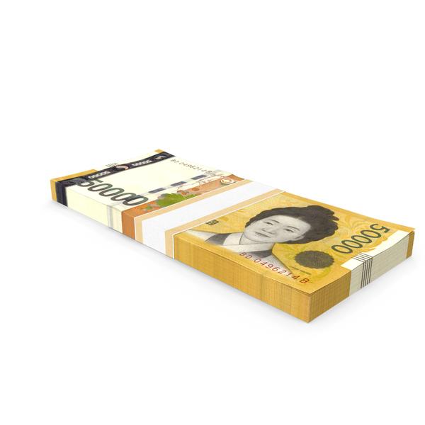 South Korean 50000 Won Banknote Bundle PNG & PSD Images