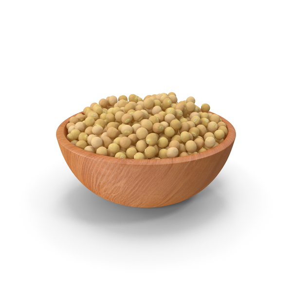 Soybeans: Soybean in Wooden Bowl PNG & PSD Images