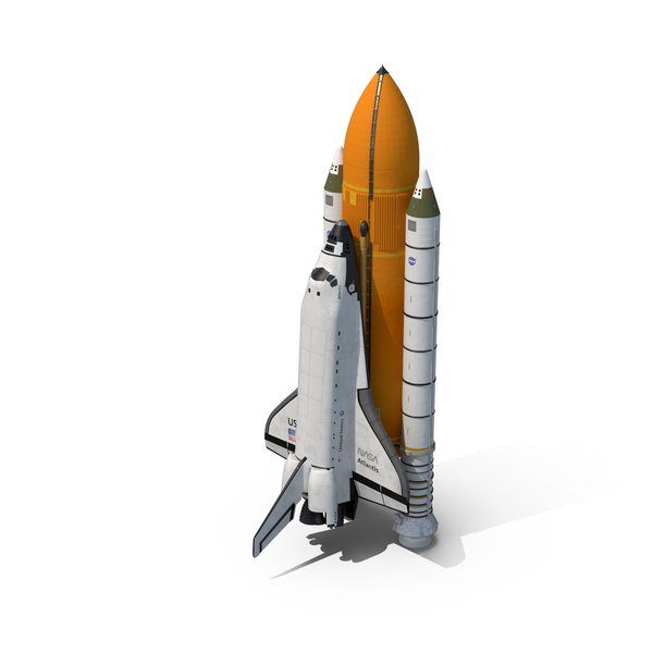 Space Shuttle With Boosters PNG & PSD Images