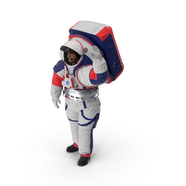 Spacesuit NASA Astronaut xEMU Greetings Pose PNG & PSD Images