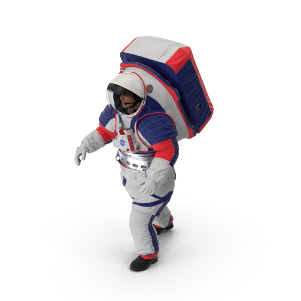 Spacesuit NASA Astronaut xEMU Walking Pose PNG & PSD Images