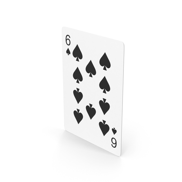 Spade Six Playing Card PNG & PSD Images