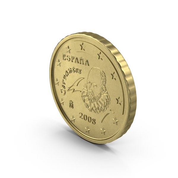Spain Euro 10 Cent Coin PNG & PSD Images