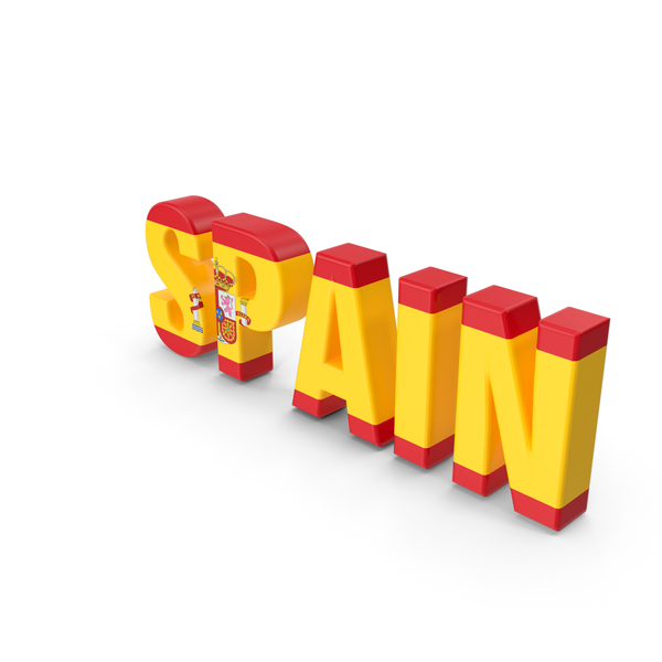 Spain Text PNG & PSD Images