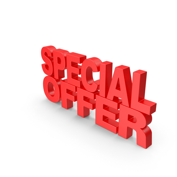 Special Offer 3D Text PNG & PSD Images