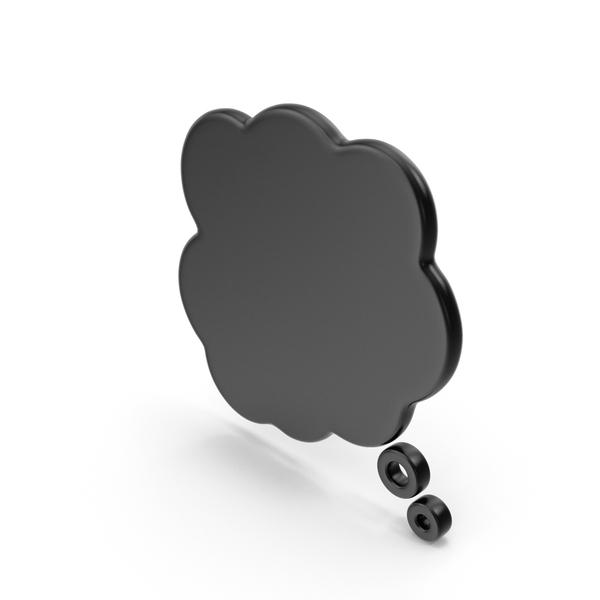 Balloon: Speech Bubble Black PNG & PSD Images