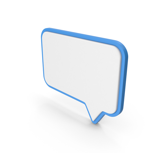 Balloon: Speech Bubble Blue and White PNG & PSD Images