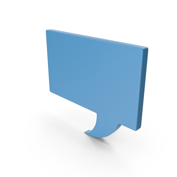 Industrial Equipment: Speech Bubble Blue PNG & PSD Images