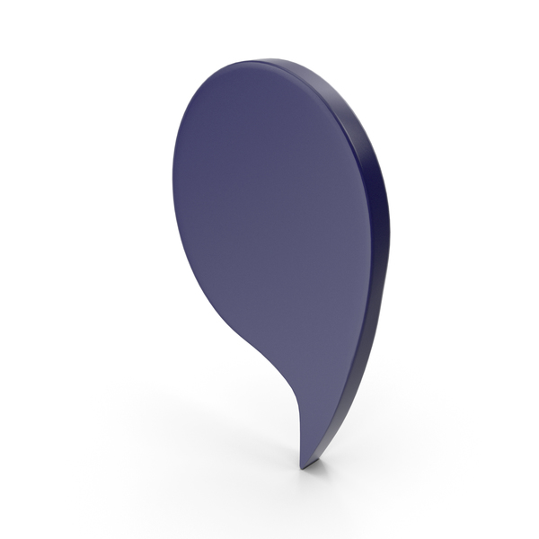 Balloon: Speech Bubble Dark Blue PNG & PSD Images