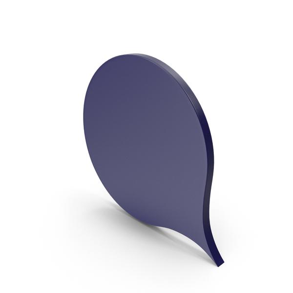 Industrial Equipment: Speech Bubble Dark Blue PNG & PSD Images