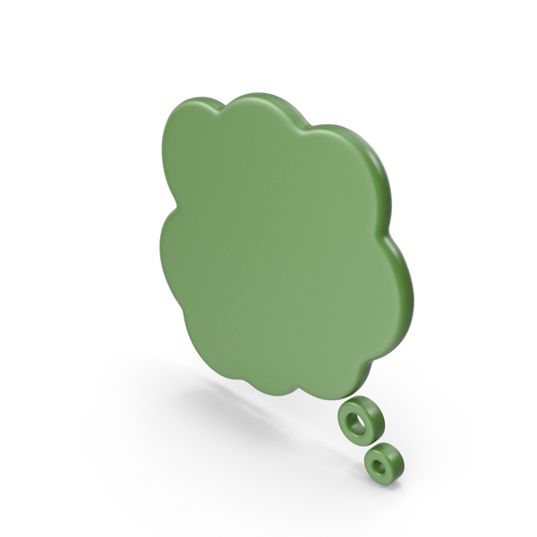 Balloon: Speech Bubble Green PNG & PSD Images