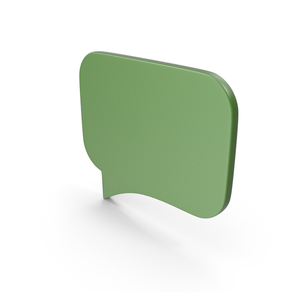 Industrial Equipment: Speech Bubble Green PNG & PSD Images