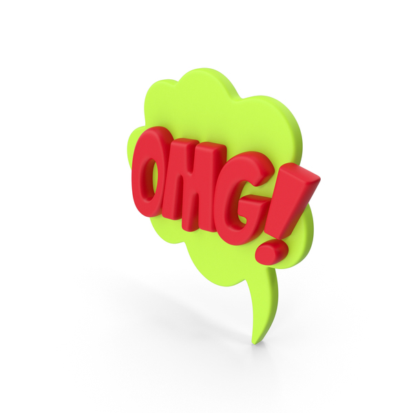 Speech Bubble OMG! PNG & PSD Images