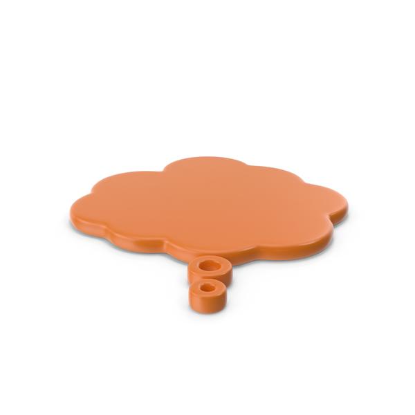Balloon: Speech Bubble Orange PNG & PSD Images
