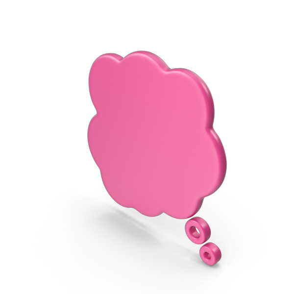 Balloon: Speech Bubble Pink PNG & PSD Images