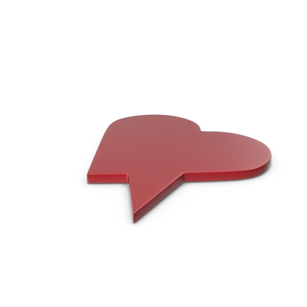 Balloon: Speech Bubble Red 06 PNG & PSD Images