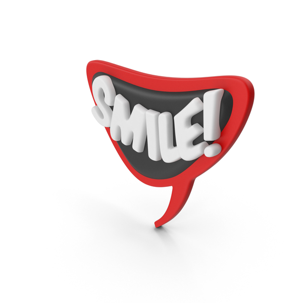 Speech Bubble SMILE! PNG & PSD Images