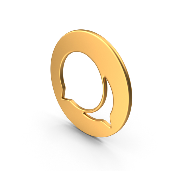 Speech Bubble Symbol Gold PNG & PSD Images