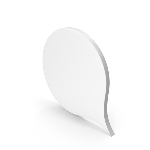Balloon: Speech Bubble White PNG & PSD Images