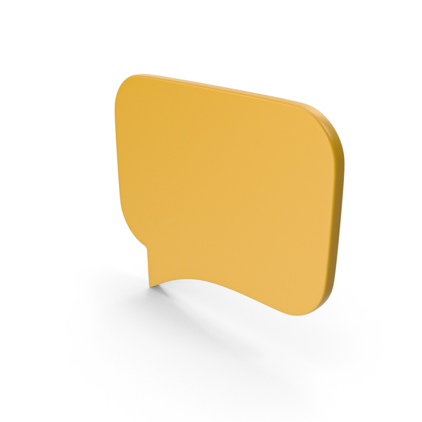 Balloon: Speech Bubble Yellow PNG & PSD Images