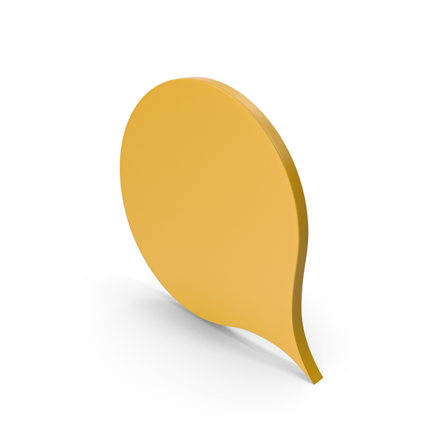 Industrial Equipment: Speech Bubble Yellow PNG & PSD Images