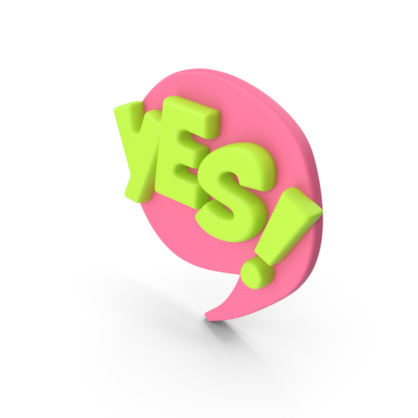 Speech Bubble YES! PNG & PSD Images