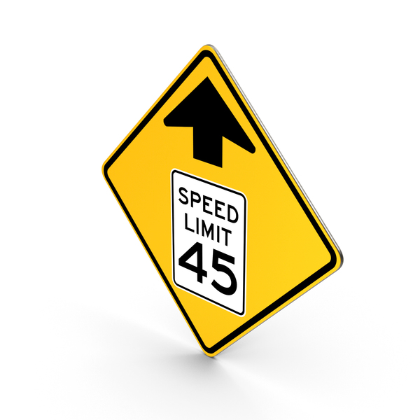 Speed Limit Ahead Traffic Control Road Sign PNG & PSD Images