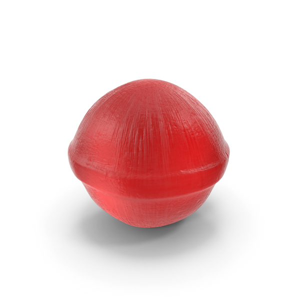 Spherical Hard Candy Red PNG & PSD Images
