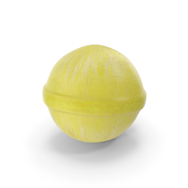 Spherical Hard Candy Yellow PNG & PSD Images