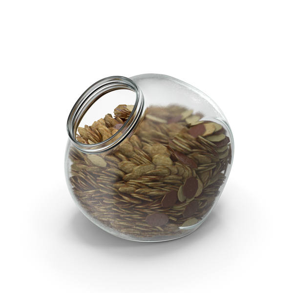 Spherical Jar with Chocolate Covered Crackers PNG & PSD Images