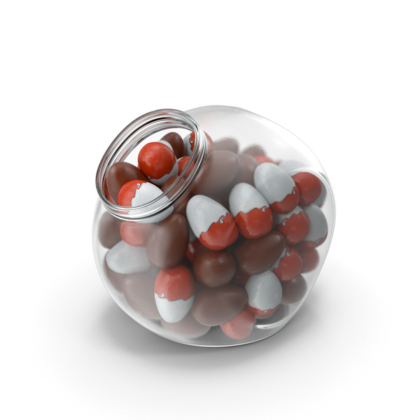 Spherical Jar With Chocolate Eggs PNG & PSD Images