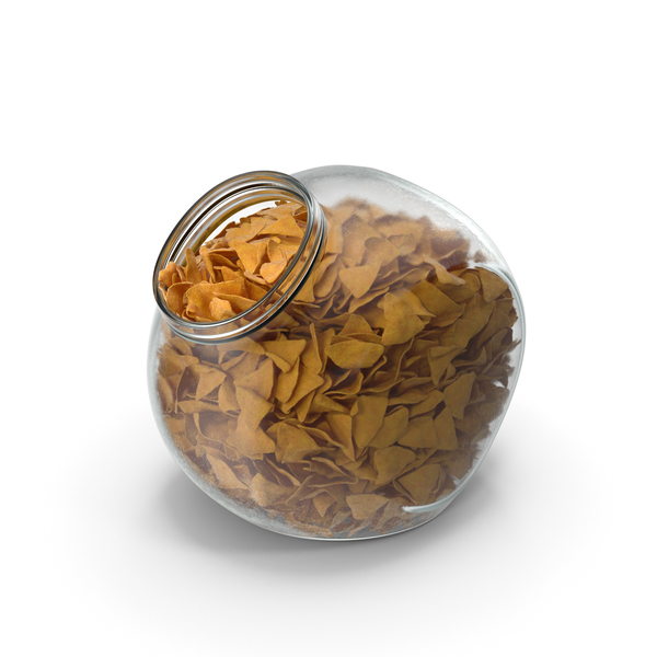Spherical Jar with Corn Tortilla Nacho Chips PNG & PSD Images
